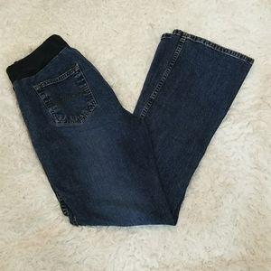 Motherhoof Maternity Boot Cut Denim Jeans M